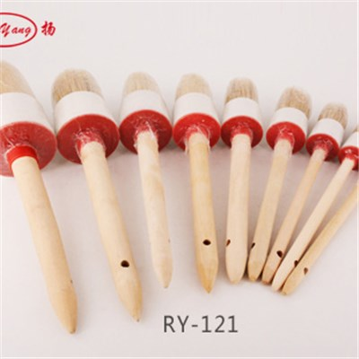 Wooden Handle Round Brush