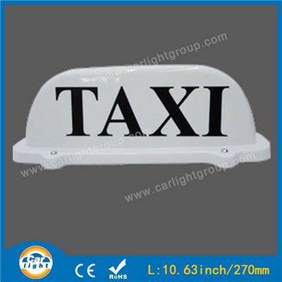 White Taxi Top Sign