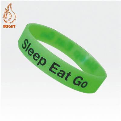 Customized Transparent Rubber Wrist Band