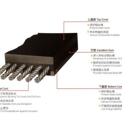 Standard Construction Type Steel Cord Conveyor Belt