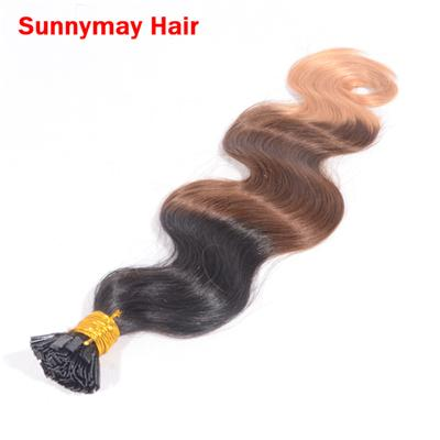 Sunnymay Ombre Hair Extensions 7A 100% Brazilian Virgin Human Hair Body Wave Ombre Flat Tip Hair Extensions