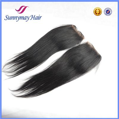 Virgin Brazilian Hair Bleached Knots Lace Closure In Stock 10-24inch Straight Hair Piece Closure