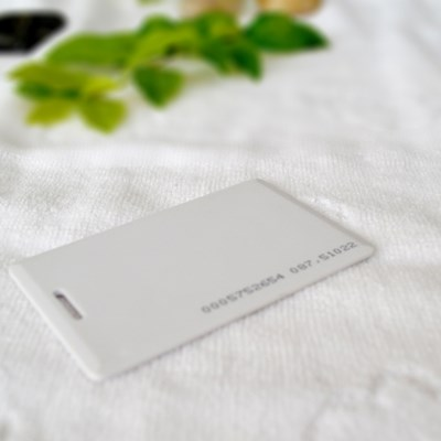 Unprinted Blank White Card