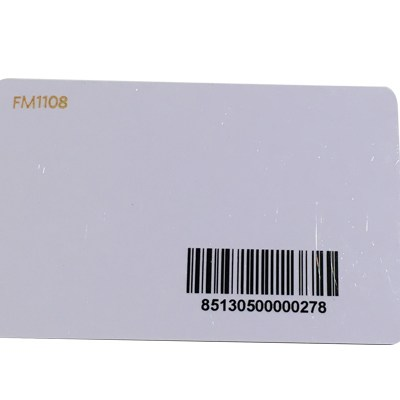 Plastic PVC Card With Barcode