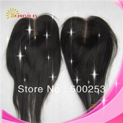 Hot Sale 6A 100% European Virgin Human Hair Straight Top Closure 4x4 Lace Closure With Middle Part