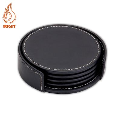 Good Quality Custom Promotion Leather Coaster