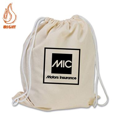 Custom Logo Cotton Draw String Gym Bag