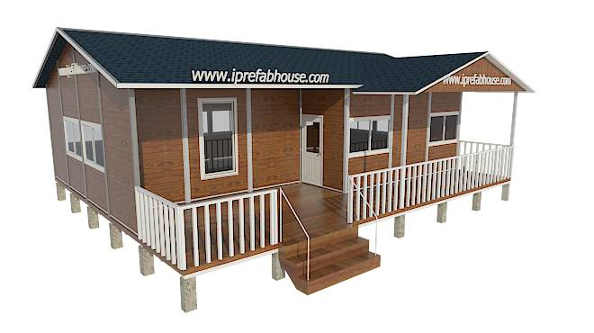 midsize one floor pre-manufactured steel frame house