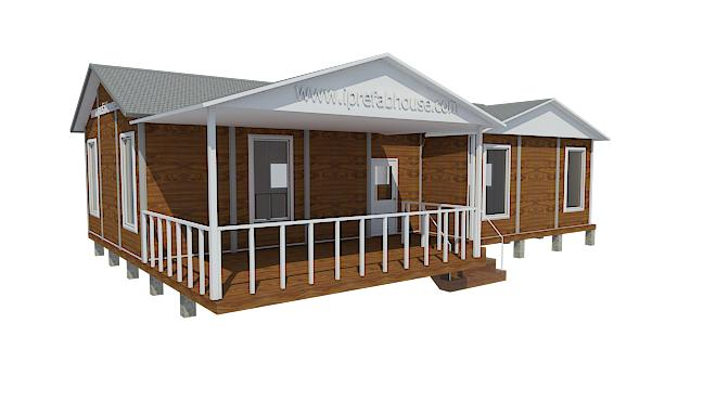 middle-sized single floor prefab light steel house kits