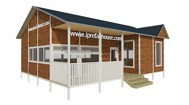 medium-sized single layer pre-assembled light steel house kits