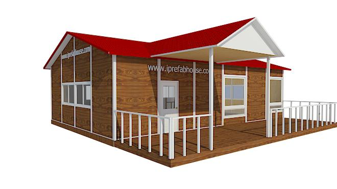 midsize single floor prefab steel villas