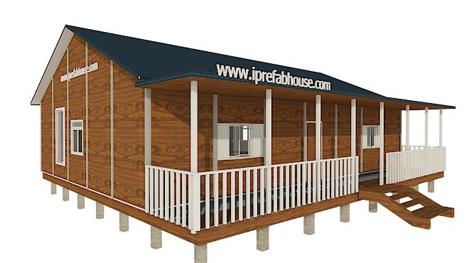 medium single floor prefab light steel villas
