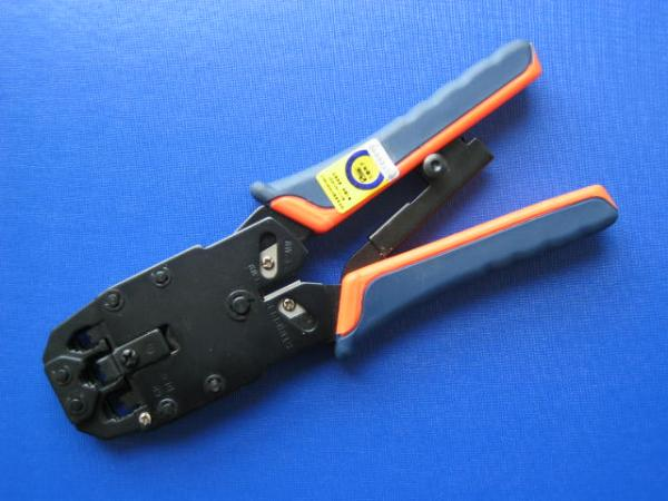 Patch cord, patch panel, cable tester, crimping tool