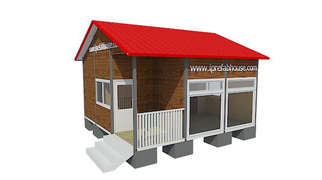 small single layer pre-manufactured steel house kits