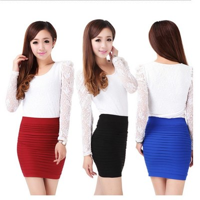 2013 Spring And Summer Sexy Stretch Short Skirt, Pleated Skirt Package Hip Skirt Bust Skirt Of Tall Waist Skirt Render,Welcome To Sample Custom