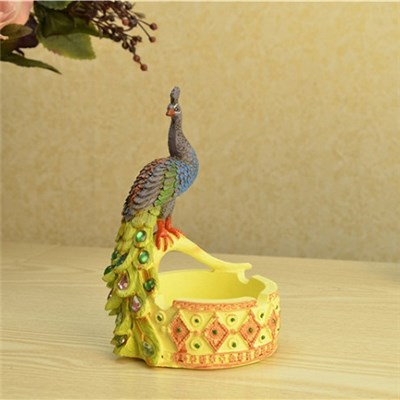 2015 The Peacock Ashtray Resin Handicraft, Creative Furnishing Articles, Practical Gifts,Welcome To Sample Custom
