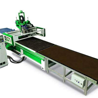 Automatic Loading Unloading CNC Router With ATC