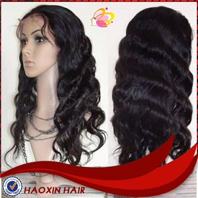 Natural Looking Brazilian Hair Full Lace Wig With Baby Hair