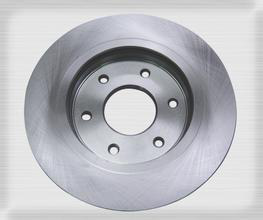 Nissan 300 ZX solid brake disc with silver paint