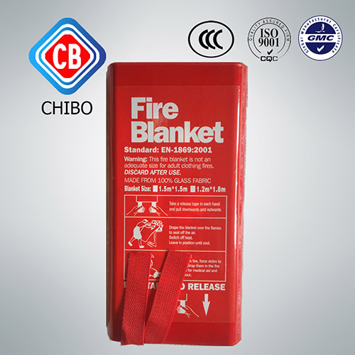 Different Size glassfiber material fire blanket