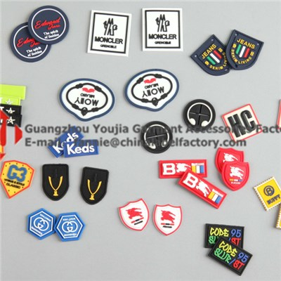 Hot Sell 3D Silicone Labels