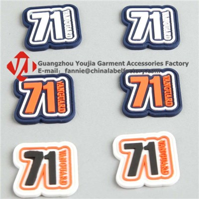Silicone Rubber Clothing Logo Patch