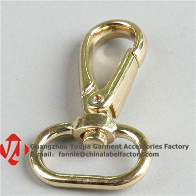 Gold Metal Snap Hook Buckle For Bag/Key