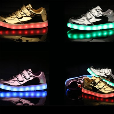 2016 High Top Kids LED Shoes Wholesale Childrens LED Sneakers Slip-on Sports Shoes For Kids