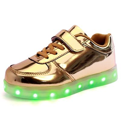 New Style Kids LED Shoes 7 Colors LED Lights Fluorescent Leisure Skate Shoes Waterproof Kids Simulation Shoes