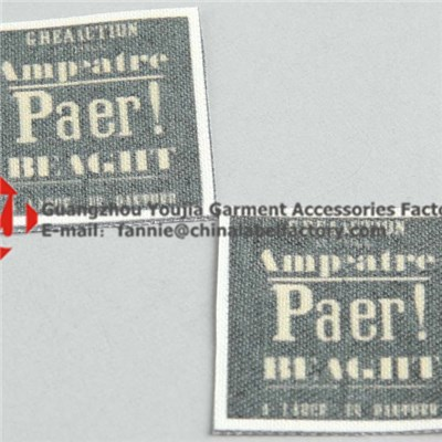 Garment Label Woven Tag Fabric Label