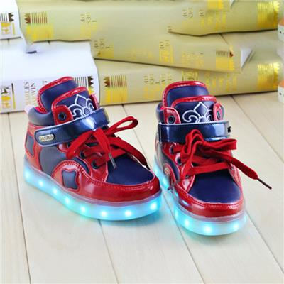 Autumn&Winter Kids LED Shoes Top USB Charging Light Up Flashing Sneakers Custom LED Simulation Shoes