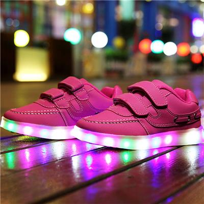 Great 7 Color Kids LED Shoes Easy USB Charging Light Up Shoes For Children Wholesale Fluorescent LED Shoes