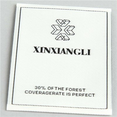 White Background Black Brand Woven Label