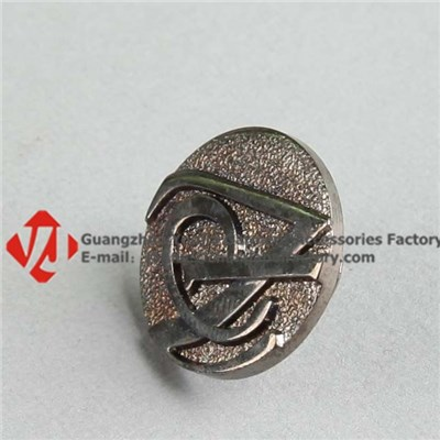 Custom Antique Metal Brand Button