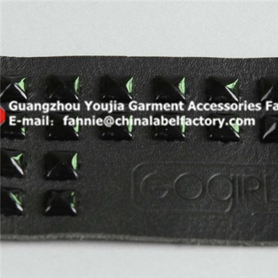 Manufacturer Black Metal Leather Patch