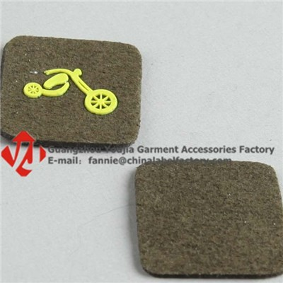 Bicycle Silicone Logo PU Leather Label