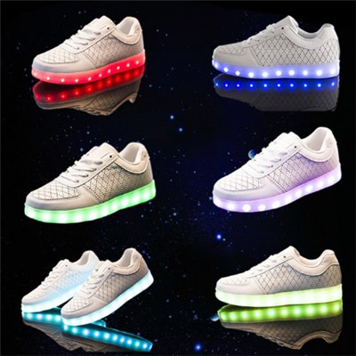 Super Fiber Breathable Unisex LED Shoes USB Charging Simulation LED Sneakers Factory Directly Deal