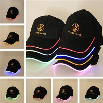 New- Top Light Up Hats Luminous Sports Caps LED Baseball Hats Light Up Caps With 7 Colors