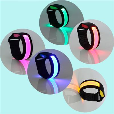 High Quality Velcro LED Bracelet Adjustable LED Luminous Bracelet LED Bangle Bracelet