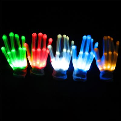 Factory Directly Deal LED Gloves Wholesale Light Up Gloves Luminous Party Gloves 7 Color Light Show
