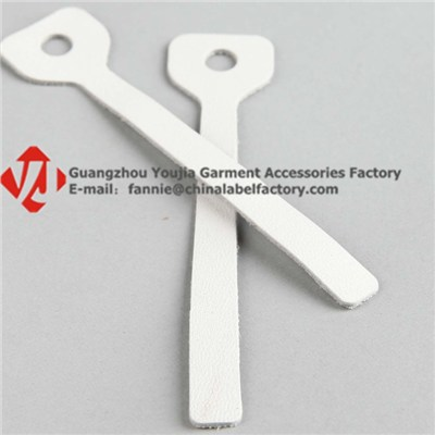 White Pure Leather Zipper Puller For Garment