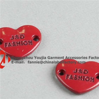 Red Heart Logo Metal Tag