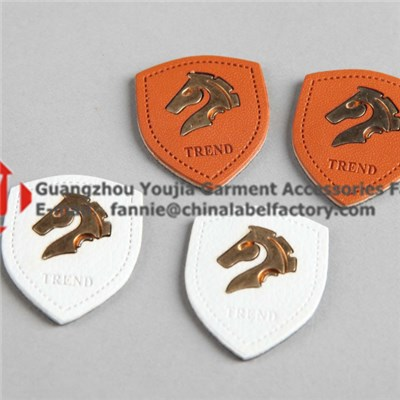 Wholesale Custom Embossed Leather Label