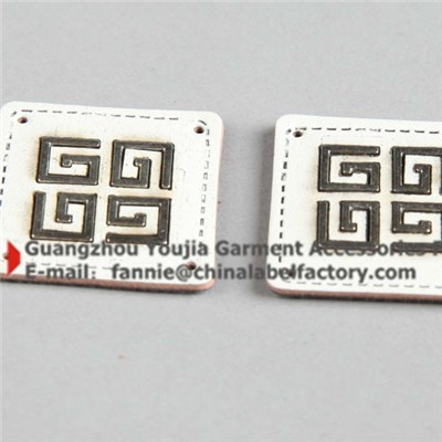 Popular Leather Patch With Metal For Clothing