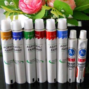 Color Paints Collapsible Aluminium Flexible Tube