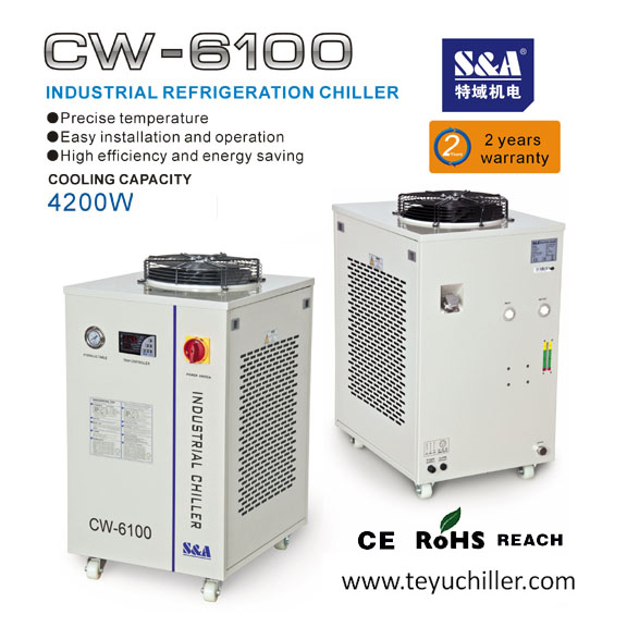 S&A air-cooled industrial chiller with cooling capacity of 4.2KW