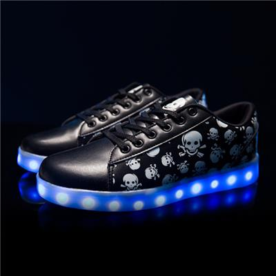 2016 Wholesales New Style Running Sports LED Shoes Men&Women Simulation LED Shoes Skull Lover LED Sneakers