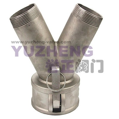 3Way Camlock Coupling With Thread Ends