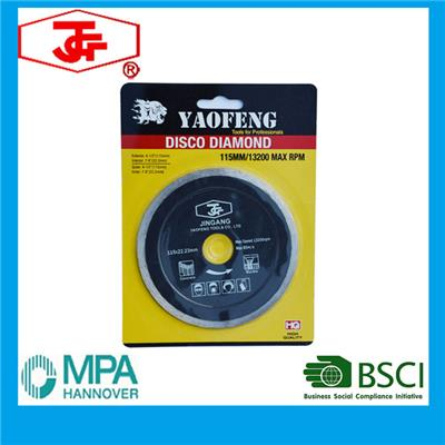 115mm Hot Pressed Continuous Rim Diamond Saw Blade