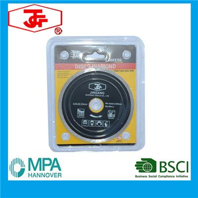 115mm Hot Pressed Continuous Rim Diamond Cutting Disc